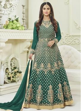 Krystle Dsouza Tafeta Silk Long Length Anarkali Suit For Ceremonial
