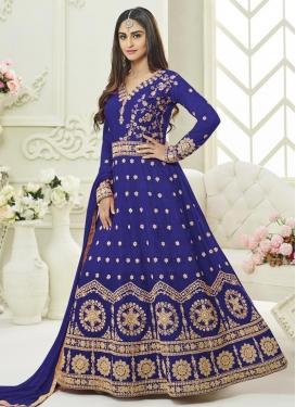 Krystle Dsouza Trendy Anarkali Salwar Suit For Festival