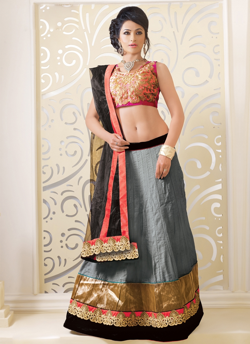 Lace And Patch Work Party Wear Lehenga Choli