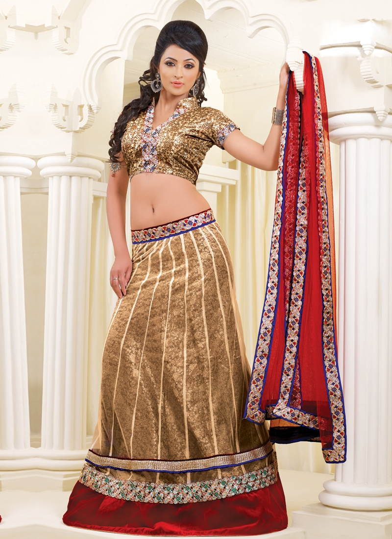 Lace And Zari Work Party Wear Lehenga Choli