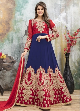 Lace Work Anarkali Salwar Kameez