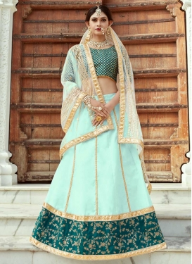 Lace Work Art Silk A Line Lehenga Choli