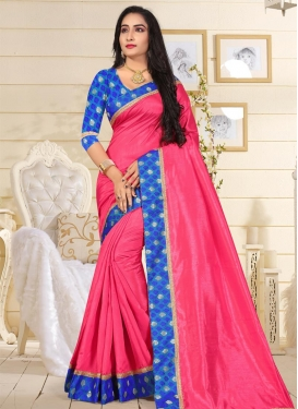 Lace Work  Art Silk Contemporary Style Saree