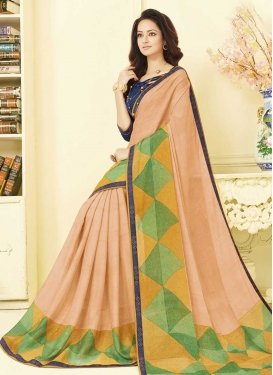 Lace Work Art Silk Traditional Saree For Casual
