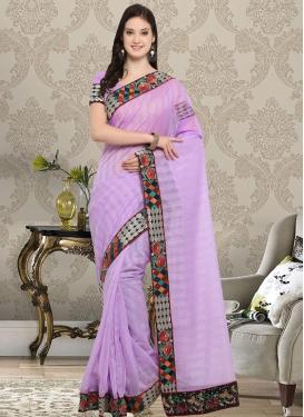Lace Work Art Silk Trendy Classic Saree