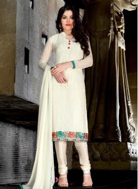 Lace Work Churidar Punjabi Salwar Suit