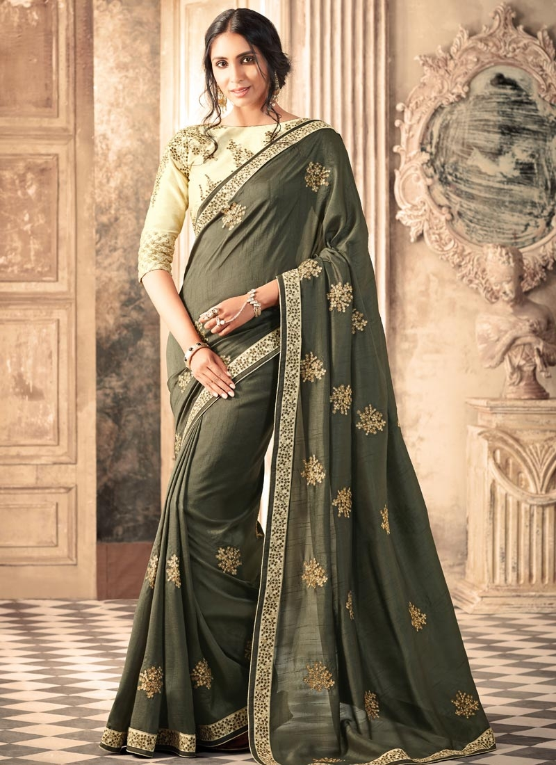 Lace Work  Classic Saree