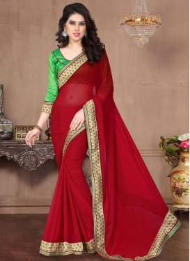 Lace Work Classic Saree For Ceremonial