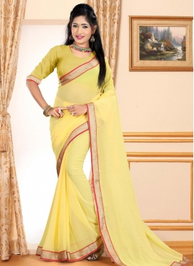 Lace Work Contemporary Saree