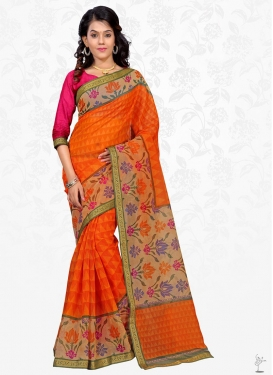 Lace Work Contemporary Saree For Casual