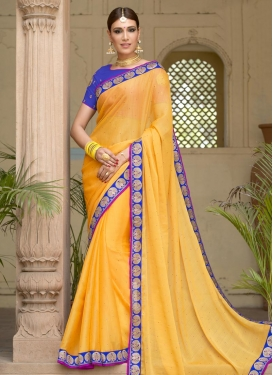 Lace Work Contemporary Saree For Ceremonial