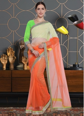 Lace Work Contemporary Style Saree