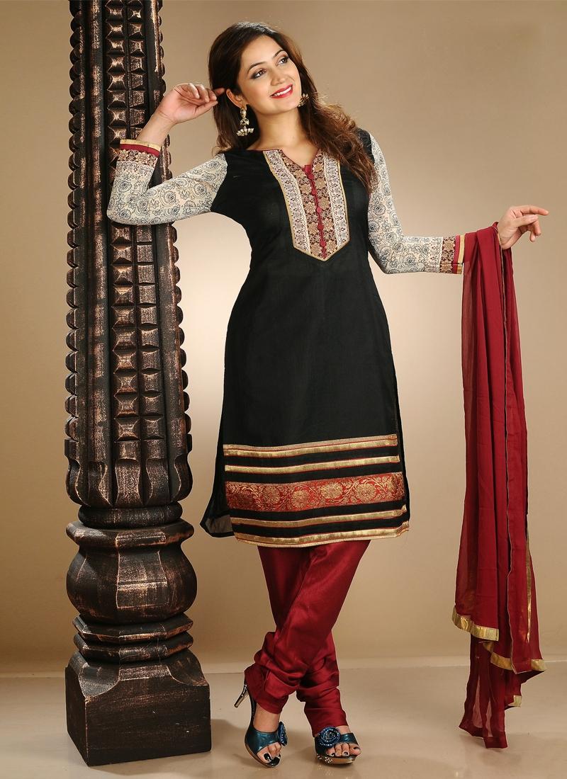 Lace Work Cotton Readymade Salwar Kameez