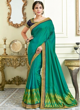 Lace Work Designer Contemporary Style Saree