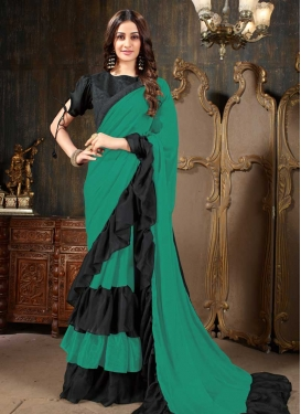 Lace Work Designer Traditional Saree