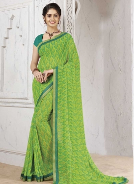 Lace Work Faux Georgette Designer Contemporary Saree