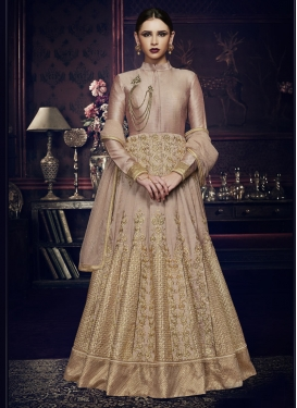 Lace Work Floor Length Anarkali Salwar Suit