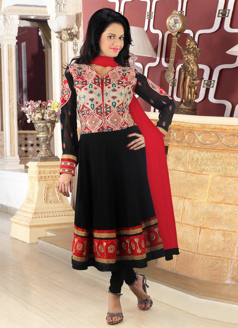 Lace Work Georgette Readymade Designer Suit