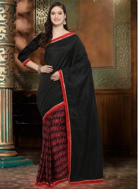 Lace Work Half N Half Designer Saree