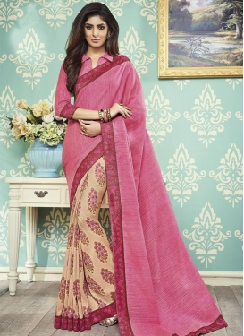 Lace Work Half N Half Designer Saree For Casual