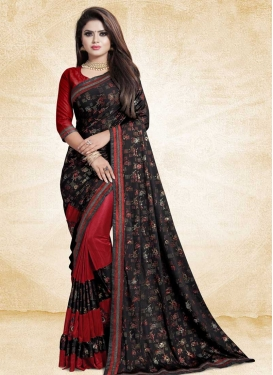 Lace Work Half N Half Designer Saree For Ceremonial