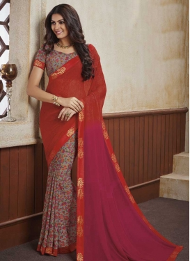 Lace Work Half N Half Saree