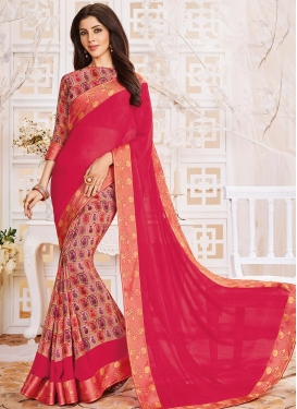 Lace Work Half N Half Trendy Saree
