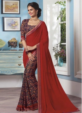 Lace Work Half N Half Trendy Saree For Ceremonial