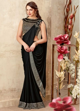 Lace Work Lycra Classic Saree