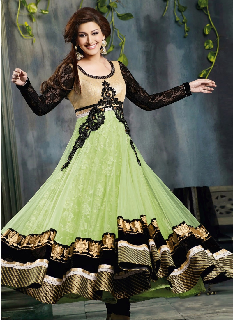 Lace Work Net Sonali Bendre Bollywood Salwar Suit