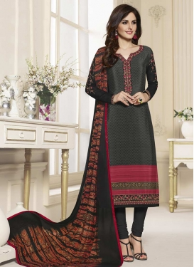 Lace Work Pakistani Straight Salwar Suit