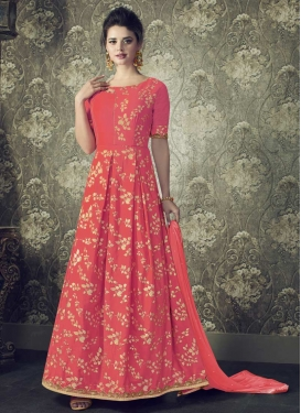 Lace Work Readymade Trendy Gown