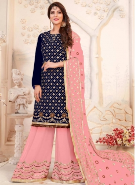 Lace Work Sharara Salwar Kameez