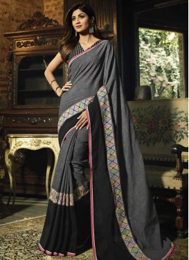 Lace Work Shilpa Shetty Contemporary Saree