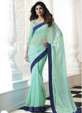 Lace Work Shilpa Shetty Trendy Classic Saree