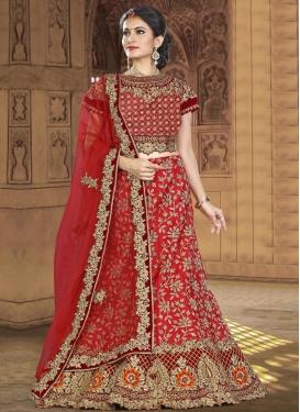 Lace Work Silk Designer A Line Lehenga Choli