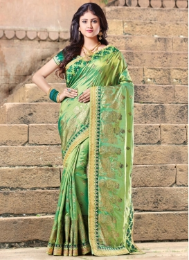 Lace Work  Silk Traditional Saree