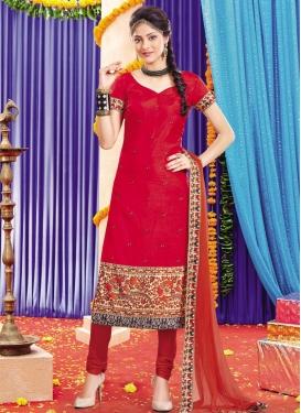 Lace Work Straight Salwar Kameez