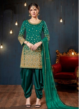 Lace Work Straight Salwar Kameez