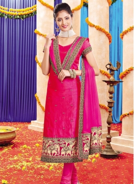 Lace Work Straight Salwar Suit
