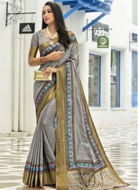 Lace Work  Traditional Saree