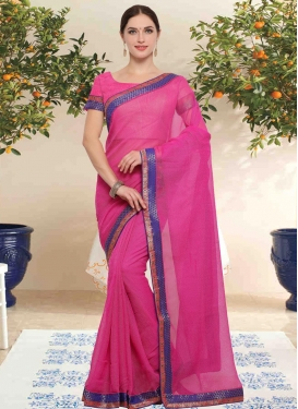 Lace Work Traditional Saree For Casual