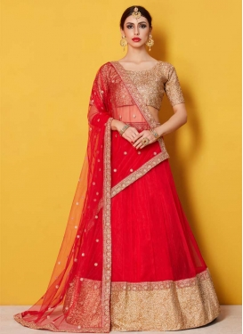 Lace Work Trendy A Line Lehenga Choli
