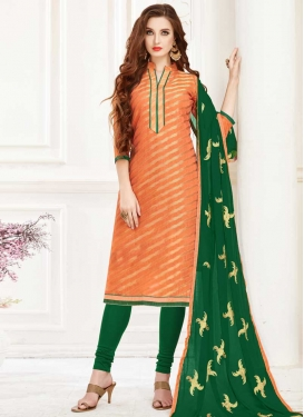 Lace Work Trendy Churidar Salwar Suit