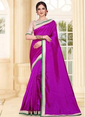 Lace Work Trendy Classic Saree