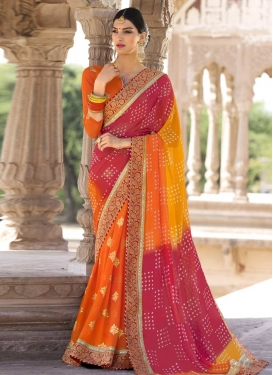 Lace Work Trendy Classic Saree For Ceremonial