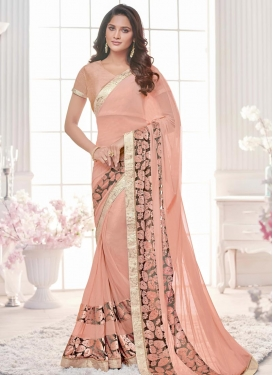 Lace Work Trendy Designer Saree