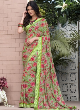 Lace Work Trendy Saree