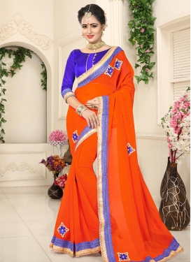 Lace Work Trendy Saree For Casual