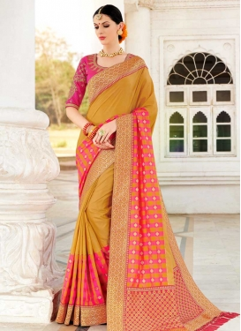 Lace Work Trendy Saree For Ceremonial